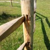 kastanje post and rails
