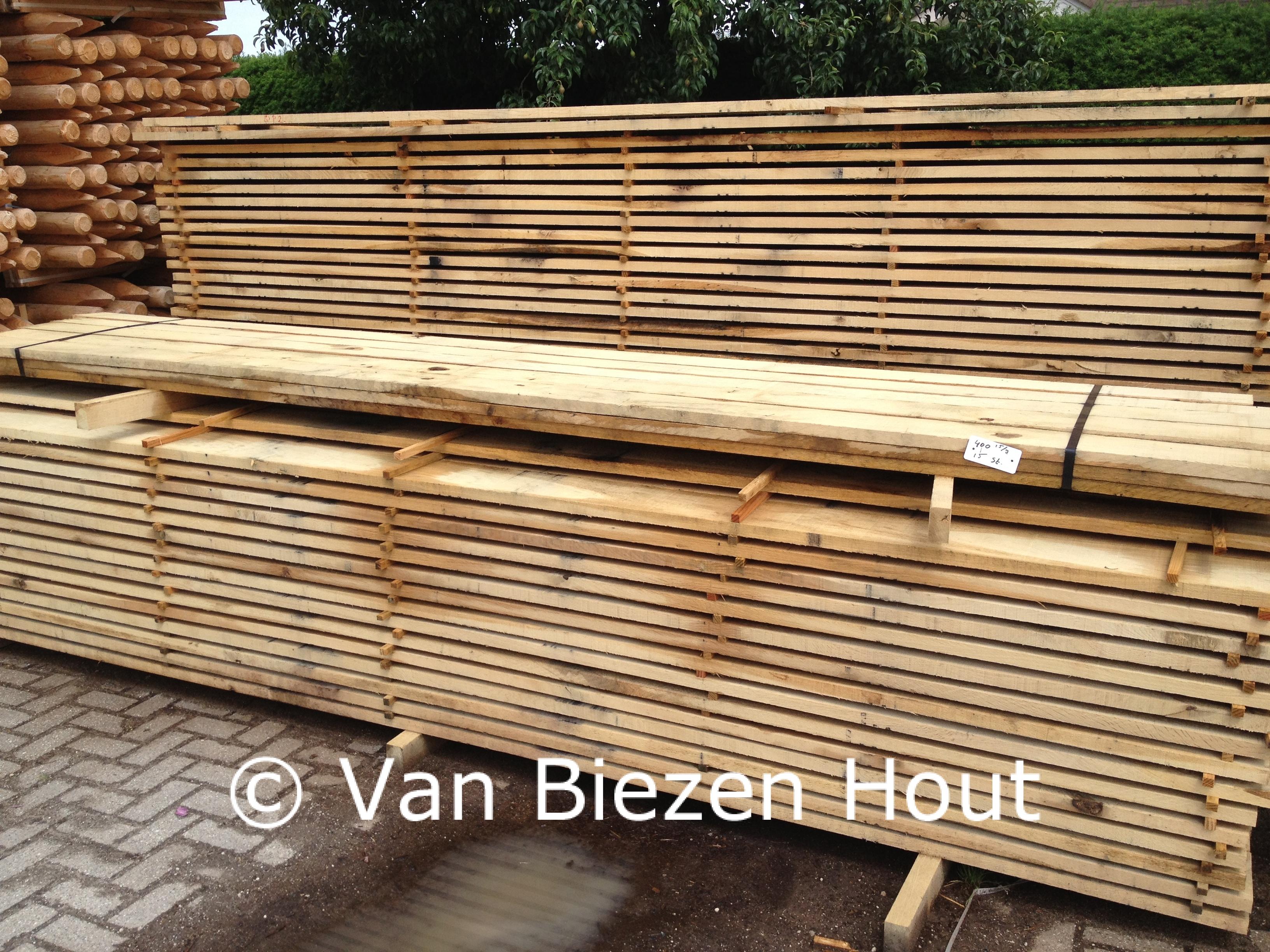 Kastanje planken eiken planken van biezen kastanjehout
